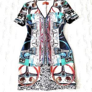 Unique designer bodycon scuba Dress!